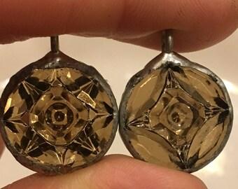 Vintage Smoky Topaz West German crystal pendant