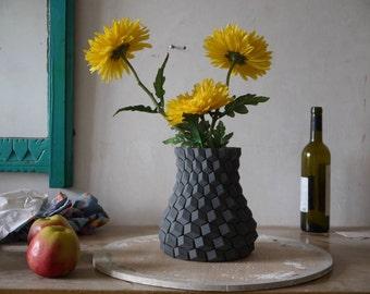 Modern Vase | Modern Home Vase Decor | 3d Printed Vase| Geometric 3DPrint| Modern Bud Vase| Minimalist Bud Vases| Minimalist Vase Home Decor