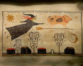 When Pigs Fly - cross stitch PAPER Pattern - from Notforgotten Farm™