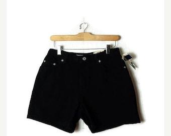 ON SALE Vintage Black Denim Shorts from 90's*