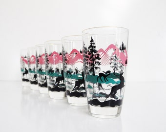 Art Deco Gazelle Tumblers