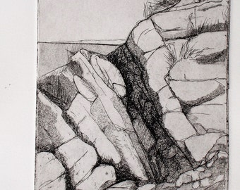 Original Fine Art Etching, Marginal Way II