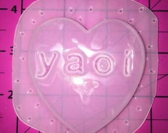 25% off Fairy Kei Kawaii YAOI Heart -Flexible Plastic Resin MOLD