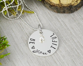 Be•YOU•tiful Necklace in Sterling Silver