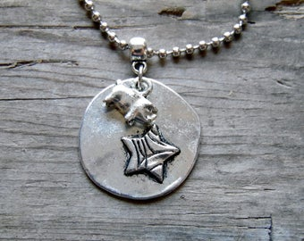 Pig Necklace, Pig Jewelry, Show Pig Necklace, Pig Lover, Pig Pendant, FFA, 4-H, Livestock Show, Country Girl Jewelry, Farm Girl, Stock Show