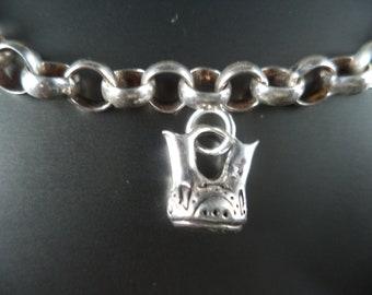 STERLING SILVER 3D Wedding Vase Charm for Charm Bracelet