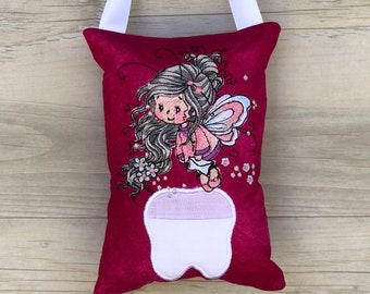 Tooth Fairy Pillow Australia Baby Tooth Pocket Birthday Easter Gift Keepsake Pixie Lost Tooth Cushion