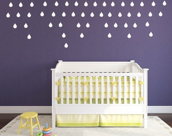 Raindrops Wall Decals - Raindrops Set of 50 Kids Room Nursery Wall Decals 22399