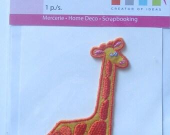 pattern decal/stickers representing a very nice giraffe in Orange tones