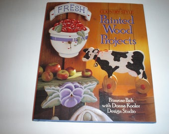 Book  Painted Wood Projects Country Style by Primrose Path   Item B51