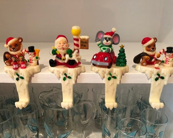 Vintage Christmas Stocking Hangers