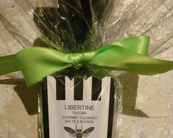 Bestseller Custom Gourmet Sea Salt Blends 6 Mini Vial Gift Set with Custom Wrapping & Description Cards
