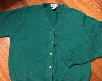 70s/80s Izod vintage sweater cardigan rare teal classic preppy retro hipster nerd lacoste 60s woman's coogi ugly christmas ralph lauren htf