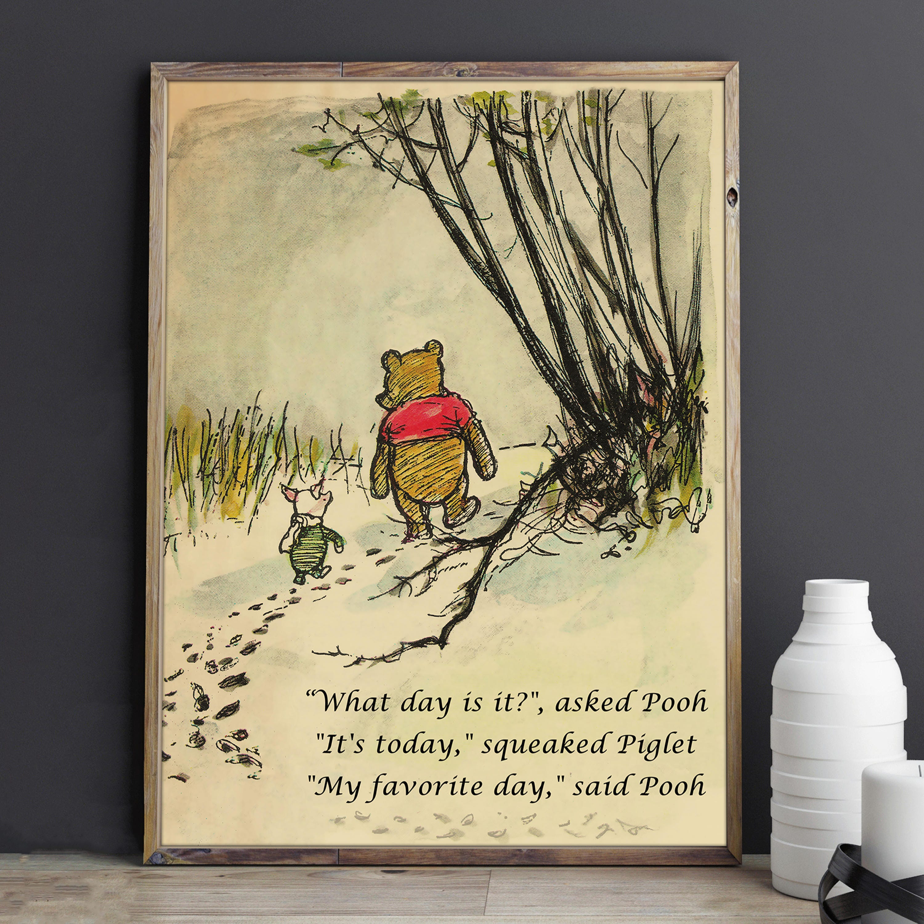 Promise Me Quote Winnie the Pooh Quotes Nursery Art Brave