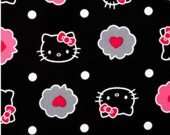 Hello Kitty thoughts of love bubble fabric 100% Cotton bty Quilt shop sc61  BTY