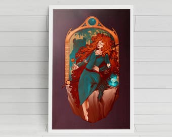 Chase the Wind - Merida - signed 11x17 poster print