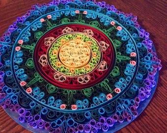 Custom Colors Quilled Mandala Wall Art