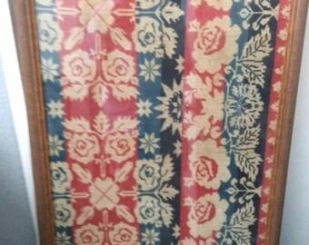 Framed Quilt dated 1843