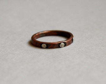 Medieval Mixed Metals Stacking Band Ring-TheModernRogue
