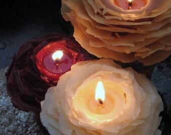 Bohemian Wedding Unity Candle Set, Garden Wedding Decor, Romantic Wedding Ceremony, Unique Unity Candle, Beeswax Rose Candle, Nature Wedding
