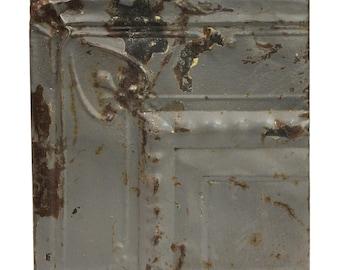 Gray Corner Cove Antique Tin Ceiling Panel