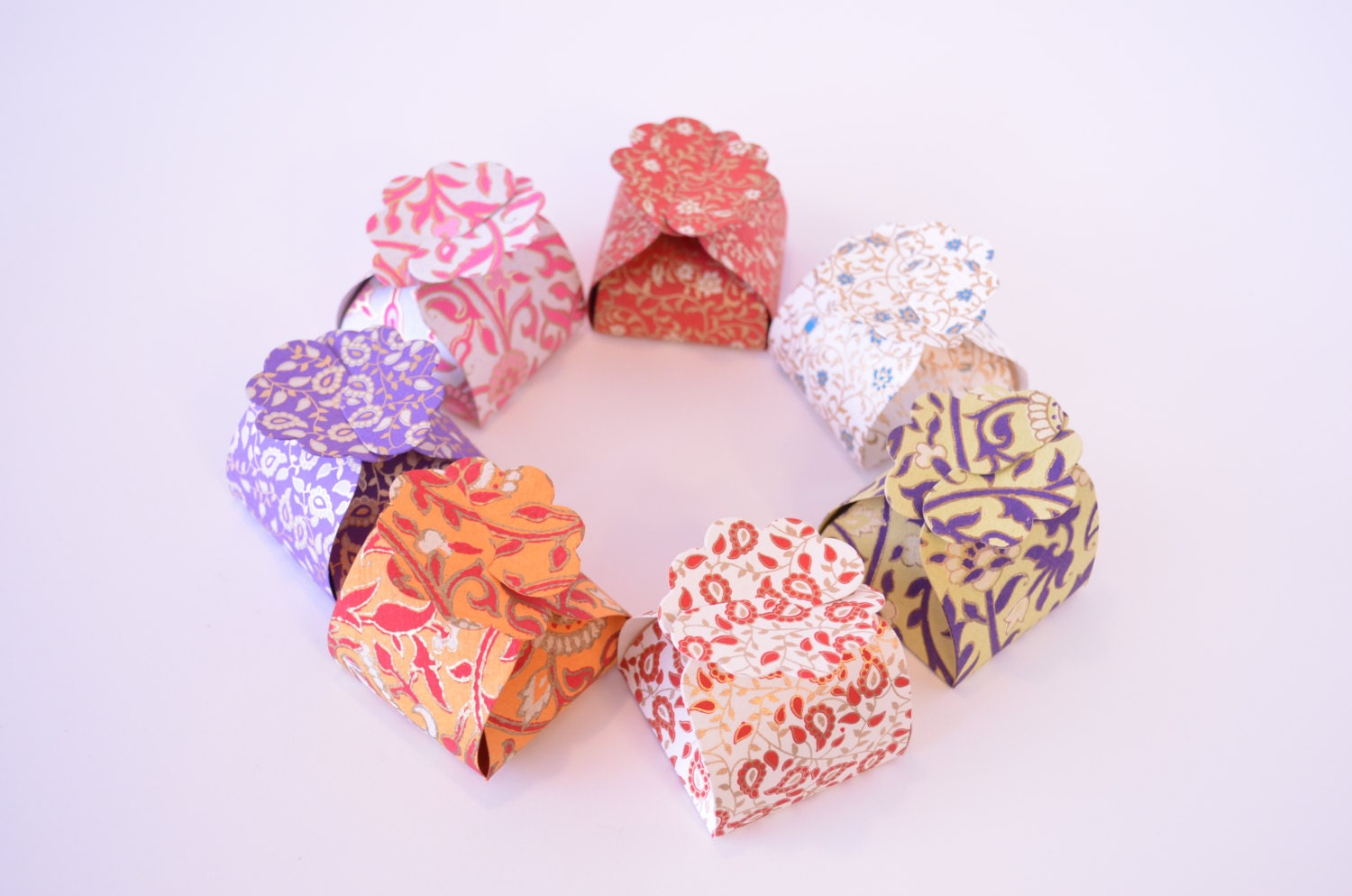 5 Small Favor Boxes Ring BoxWedding Gift Box Indian Wedding