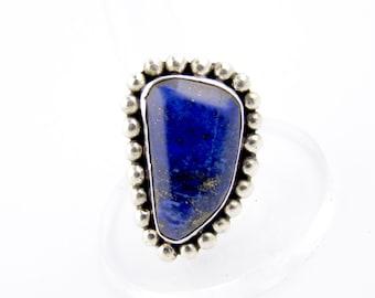Sterling Silver Southwest Navajo Lapis Lazuli Ring
