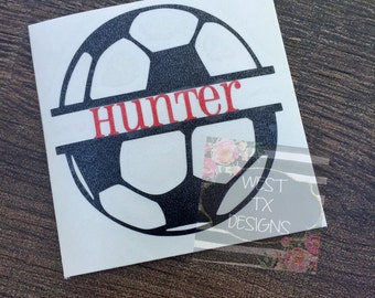 Soccer Decal | Soccer ball Decal | Split Soccer Ball | Vinyl Decal | Soccer Car Decal | Sports Decal | Water Bottle Decal | Personalized
