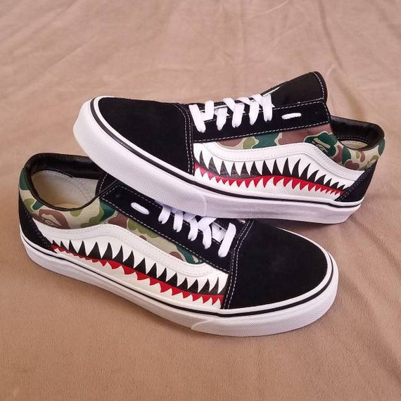 custom vans old skool bape