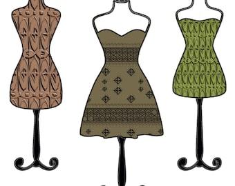 Fashion Stylist, Dress Designer, Fashion School Gift,  Dress Maker Art, Seamstress Gift, Sewer Gift, Quilter Gift, Project Runway, Designer