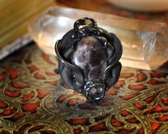 Amethyst Ring, Victorian Ring, Fantasy Ring, Cosplay Ring