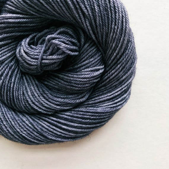 SPACE GREY hand dyed yarn