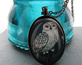 Snowy Owl Statement Necklace - Owl Jewelry - Spiritual Jewelry - Spirit Animal - Gift for Friend - Gift for Woman