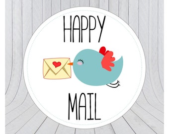 Happy mail stickers, Mail stickers, packaging stickers, delivery stickers, 004