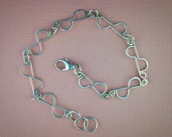 Demi Circle Sterling Silver Bracelet