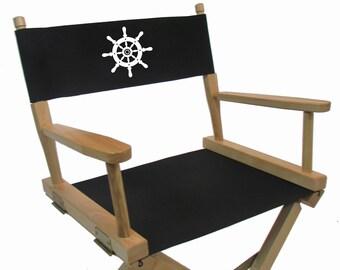 Marine Themed Replacement Sunbrella(R) Directors Chair Cover (Round Stick,  Sunbrella(R))