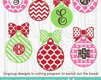 Christmas Monogram SVG Files Set of 14 cut files includes svg/png/jpg formats! Commercial use approved! christmas svg {no letters included}