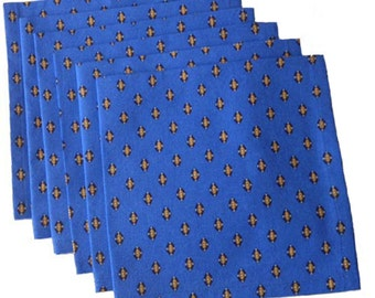 French Country Napkins, Lisa Blue and Yellow Napkins