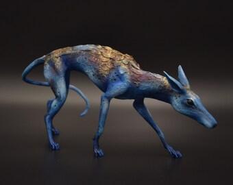 Dog Stars Greyhound Original Creature figurine Sculpture OOAK Art doll Toy Animal