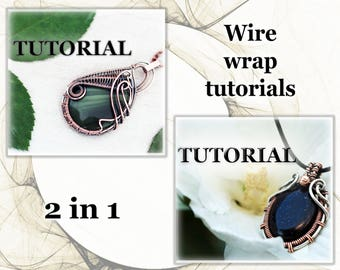 Wire wrap tutorial - 2 in 1 - Wire wrapped pendant tutorial - Wire jewelry tutorial - Tutorial wire wrapped jewelry - Wire tutorial