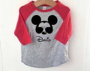 Disney inspired Mickey Mouse raglan baseball t-shirt Aviator Mickey
