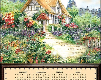 CLEARANCE Thatched Cottage Jeweled 2015 Calendar Kit