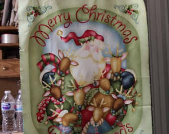 Nancy Halvorsens' Jingle All the Way quilt Panel