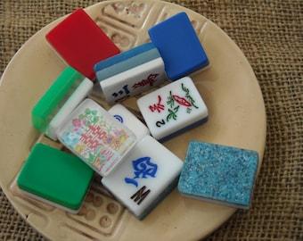 Mahjong Tiles for Crafts - Mahjongg Supplies - Free Shipping - Colorful Mahjong Tiles - Mahjong Crafts