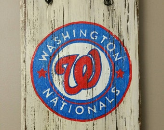 Washington Nationals hand painted sign on reclaimed wood
