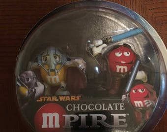 Star Wars M&M Chocolate Pire General Grievous and OBI-Wan Kenobi,Figure,Candy,Toy,Adult,Kid,Lucas Film, Collectables,Star Wars