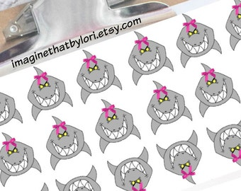 New Smaller size  Shark Week Period Tracker Planner Stickers