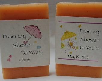 Baby Shower Favors - Shower Favor - Soap Party Favors - Soap Favors- 2 oz. Baby soap favors