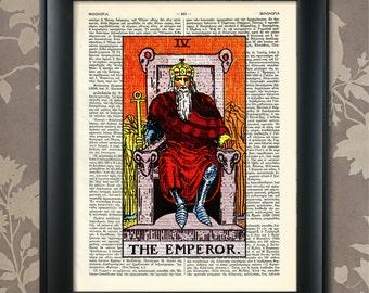 The Emperor, Tarot Card Print, Tarot Card Poster, Tarot Print, Tarot art, Tarot wall art, Tarot Gift, Tarot Cards, Tarot Deck, Major Arcana