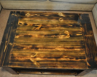 Torched Top Coffee Table